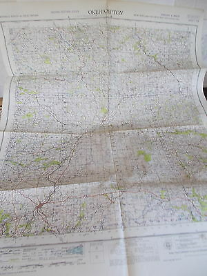 An Ordnance Survey Map Of OKEHAMPTON - Published By The War Office In 1951