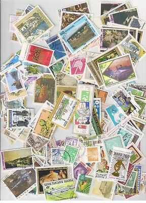 Collection Of 200 World Stamps, All Different, Mint, Used, Large & Small