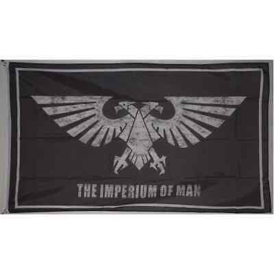 Large The Imperium of Man Warhammer Galactic Empire Eagle Flag 3x5ft Banner