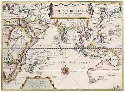 A4 Reprint of Old Maps Old Map Of Various Parts Of The World Reprint 5