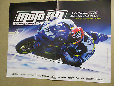 Poster 2 Pages Moto : Marc Fissette - Michael Savary - 6H Moto Spa Francorchamps
