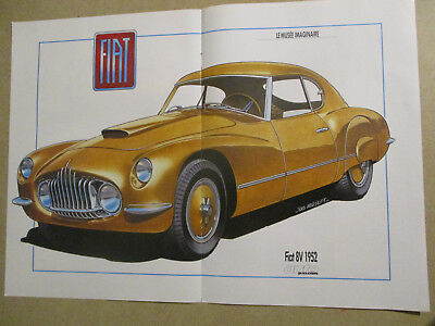 Poster 2 Pages Auto : Fiat 8V 1952