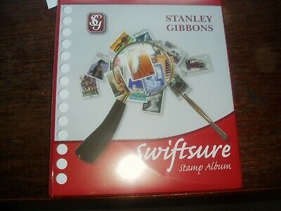 Collection in Stanley Gibbons Swiftsure  Album Red  4 ring plus add ons scans