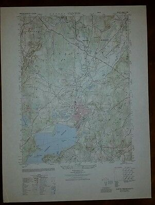 1940's Army topographic map Clinton Massachusetts -Sheet 6668 I NW