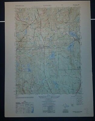 1940's Army topographic map Coventry RI Sheet 6667 II NW