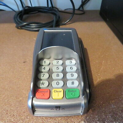 VeriFone VX 820 USB Card Payment Terminal Pin Swipe Machine screen is marked