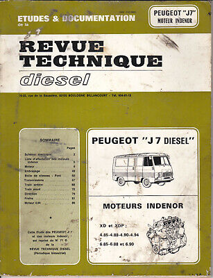 "Revue Technique Diesel  "" PEUGEOT J7 moteur INDENOR "" - edition 1981 - 91 pages"