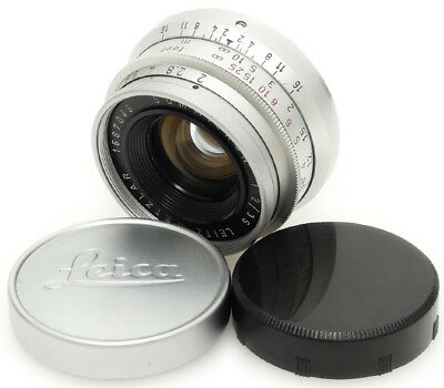Leica Leitz Wetzlar Summicron 35mm F2 Lens For Leica L39. M39 Screw