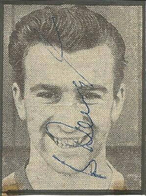 Football Autograph Bryan Douglas Signed Newspaper Picture & Biography Sheet F420