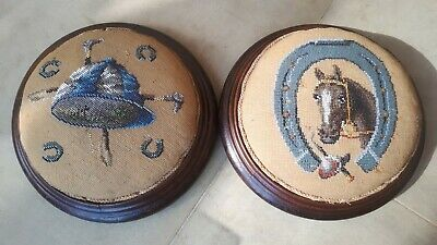 Pair Of Victorian Horseracing Equestrian Horse Riding Racing Fotstools furniture