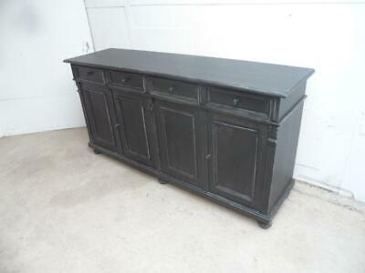 A Stunning Reclaimed Pine 4 Door Painted Black 6ft Dresser Base/Sideboard