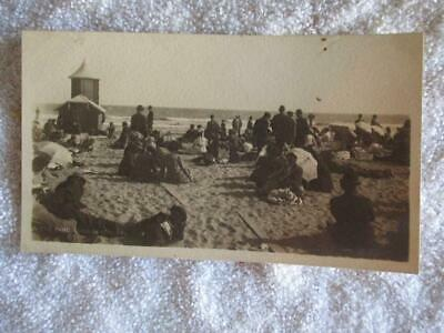 Early 1900s J. Bewere Post Card People on the Sand at Long Beach CA