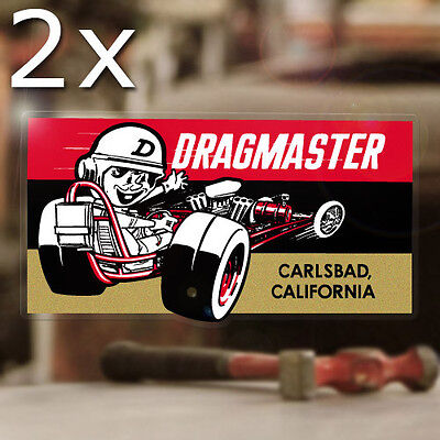 """2x pieces Hurst baby buggy sticker decal old school drag racing hot rod 5/"""""""
