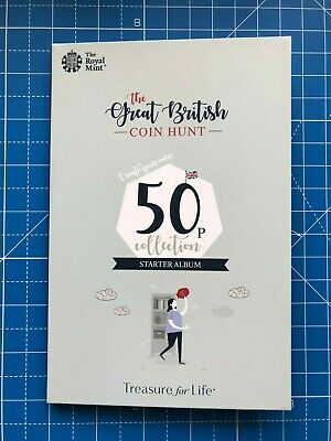 Royal Mint The Great British Coin Hunt 50p Collectors Starter Set Album + Coins