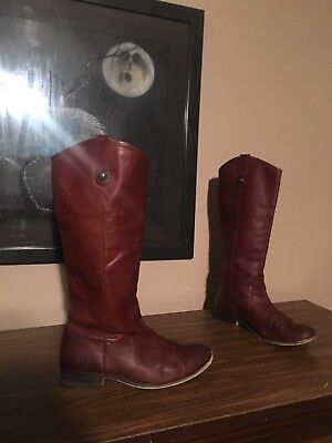 3d21aef0836 Womens Frye Melissa Button western Style Riding Boots Size 9 B cognac