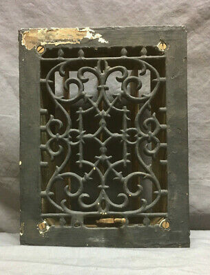 Antique Cast Iron Decorative Heat Grate Floor Register 12X9 Vintage 58-19L