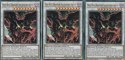 Yugioh 3 X Hot Red Dragon Archfiend Abyss  Dupo-En057  Ultra 1St Ed Duel Power