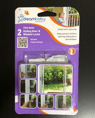 DreamBaby Sliding Door /& Window Lock Fold Down 2pk Child Baby Proof Safety
