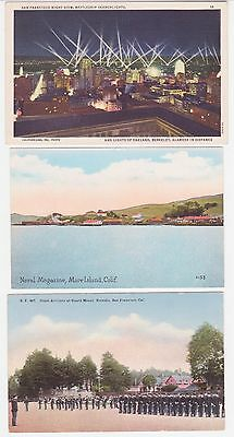 Antique Post Card Lot of 3 San Francisco Cal. Military
