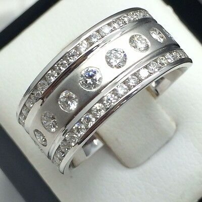 1ctw - Ladies Diamond Eternity Band (14k White Gold)