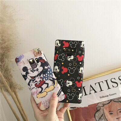 Cute Disney Minnie Mickey mouse soft case Cover for Samsung galaxy S10+ note 8 9