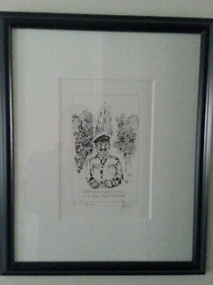"""Jerry Garcia Framed Artist Proof """"Sadaam"""" Certificate of Authenticity"""