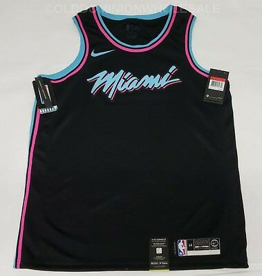 new concept 337af d4214 NEW NIKE NBA Miami Heat City Edition Miami Vice Large 2018 ...