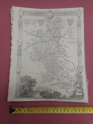 100% Original Buckinghamshire  Map By Moule C1848 Vgc Railways