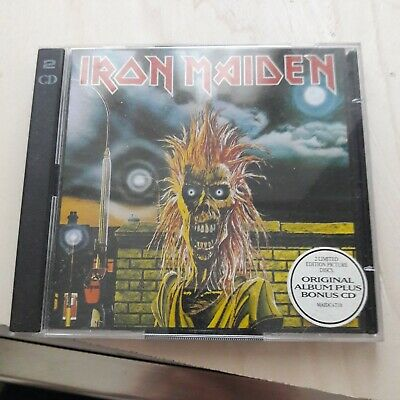 iron maiden s/t reissue 2 cd cd picture