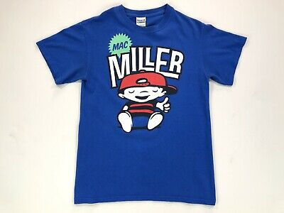 Mac Miller T Shirt Most Dope Blue Slide Park Men's Small Blue Tee Hip Hop Rap