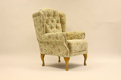 Regency Queen Anne high seat chair.British made coil sprung Suite Deal Bexley.