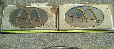 """2 1960s McDonalds STOREFRONT SIGNS Golden Arch American Signage® 46""""x3""""x23"""" RARE"""