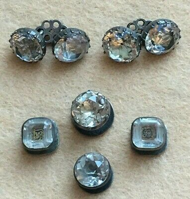 Simply Stunning early 18th Century Rock Crystal and Silver Cufflinks