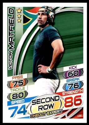 Topps Rugby Attax 2015 - Victor Matfield South Africa No. 131