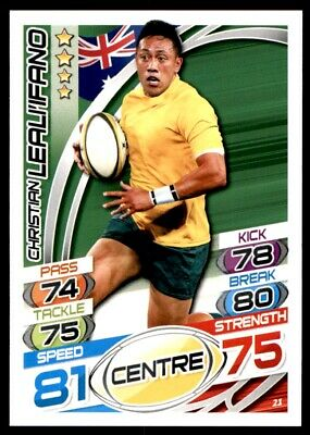 Topps Rugby Attax 2015 - Christian Leali'ifano Australia No. 21