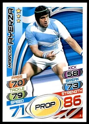 Topps Rugby Attax 2015 - Marcos Ayerza Argentina No. 1