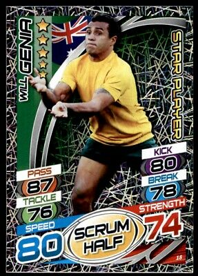 Topps Rugby Attax 2015 - Will Genia Australia Star Player No. 18