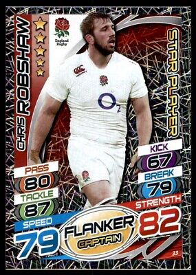 Topps Rugby Attax 2015 - Chris Robshaw England Star Player No. 33
