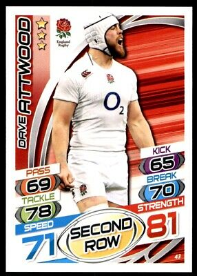 Topps Rugby Attax 2015 - Dave Attwood England No. 43