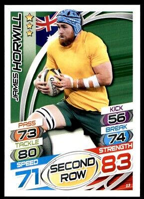 Topps Rugby Attax 2015 - James Horwill Australia No. 13
