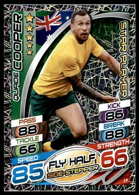 Topps Rugby Attax 2015 - Quade Cooper Australia Star Player No. 19