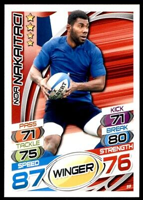 Topps Rugby Attax 2015 - Noa Nakaitaci France No. 59