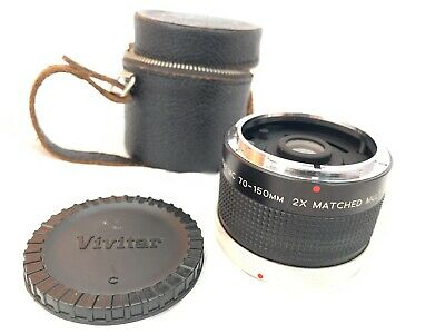 Exc Cond Vivitar MC 70-150mm 2X Matched Multiplier for Canon FD Mount Lens