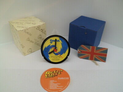 BAND OF THE BLACK WATCH CLOCK actual VINYL RECORD CENTRE Desk / Side Table Stand