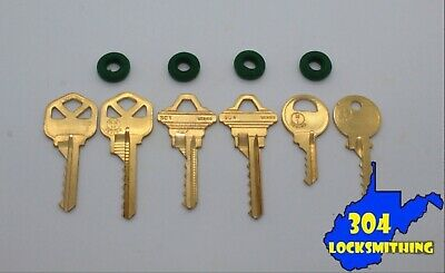 Professional 6 key Depth Key Set with bump rings - 304 Locksmithing