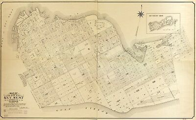 A4 Reprint of American Cities Towns States Map Key West Florida