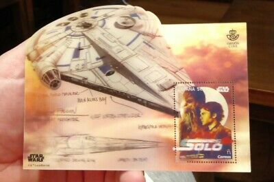Star Wars Han Solo Stamp Sello 3 D Correos Millennium Falcon Emisión Cine Spain