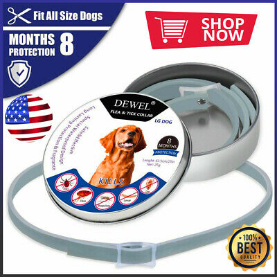 Dewel Flea Tick Seresto Collar Adjustable Large Dog Over 18lb 8 Month Protection
