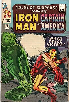 TALES OF SUSPENSE #71 Iron Man Silver Age Marvel Comics 1965 G/VG