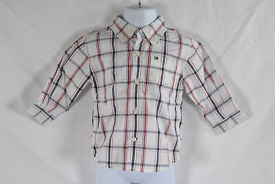 Baby Boy's Tommy Hilfiger Long Sleeve Woven Shirt in White